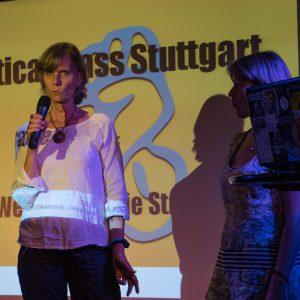 """Karin Braig und Patricia Söltl von """"Refugees, welcome to Stuttgart"""""""